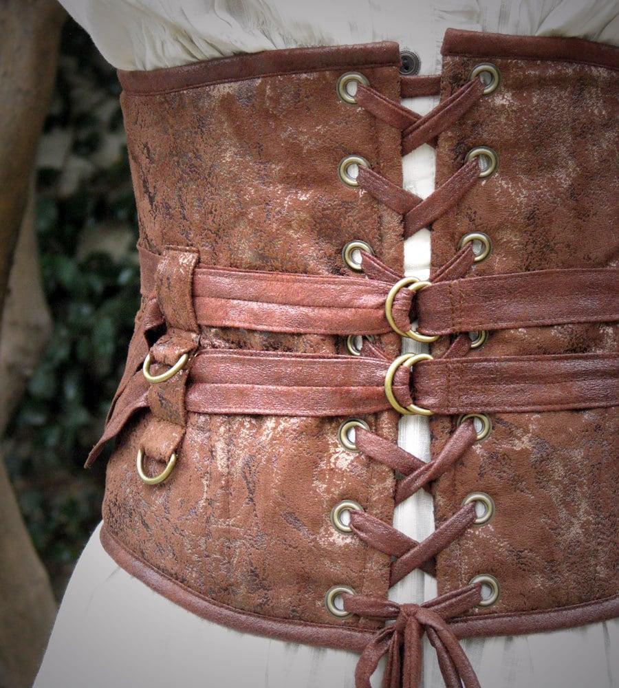 Delicious extra wide steampunk belt in textured browns - Steampunk bett ...