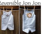 Boys Custom Made Reversible Jon Jon with Monogram or Applique