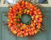 Spring Wreath - Mothers Day Wreath - Wreath for Door