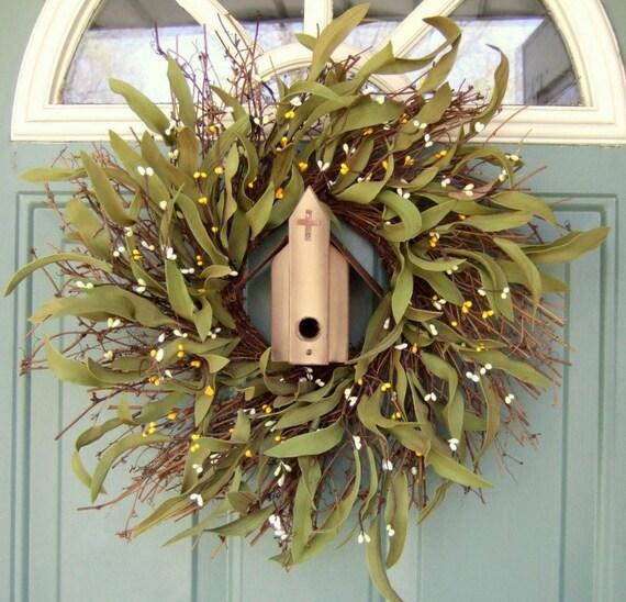 Summer Wreath - Mothers Day Wreath - Wreath for Door