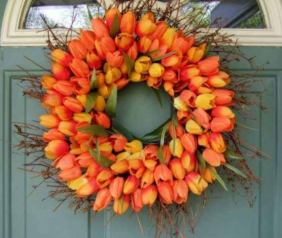 Spring Wreath - Mothers Day Wreath - Wreath for Door
