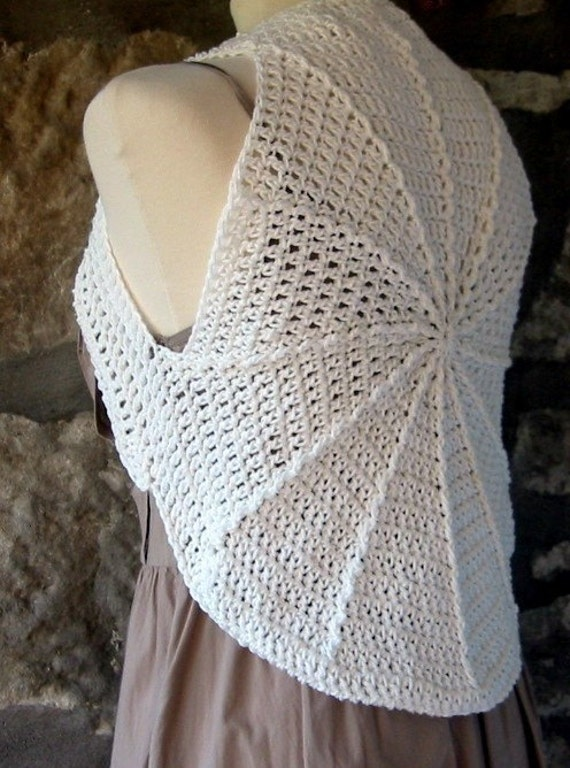 Crochet Pattern Cotton Circular Shrug Instant by Thesunroomuk