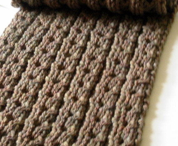 Grampian Unisex Chunky Scarf Knitting Pattern PDF
