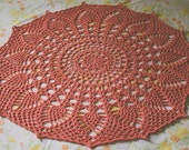 """Doily Blanket """"Glory"""" in Persimmon"""
