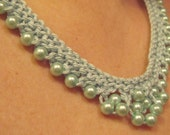 Baby Blue Pearls Necklace