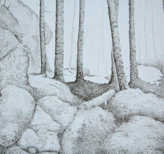 Forest - an original pen and ink drawing