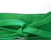 Stunning Green Color Wrap Style Belt