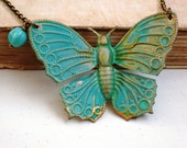 A Turquoise Butterfly Necklace