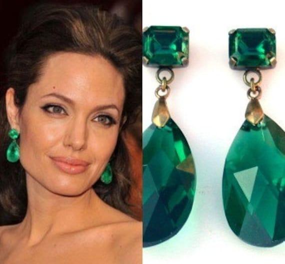 Emerald Earrings Angelina Jolie Earrins Angelina