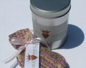 Purple Swirl Crochet Socks