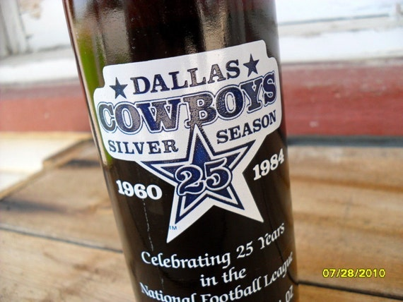 Vintage Coca Cola Dallas Cowboy Silver Season Commemorative