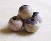 Marshmallow and Cream - Ceramic Beads - 15mm - 5 beads