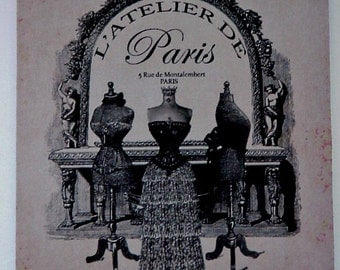 Mouse Pad - Dressmaking /  Paris Chic