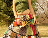 long folk skirt from vintage Neckties MADE TO ORDER