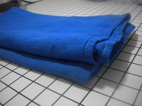 Hand Dyed Cotton Birdsye Flat Diaper - Bright Blue