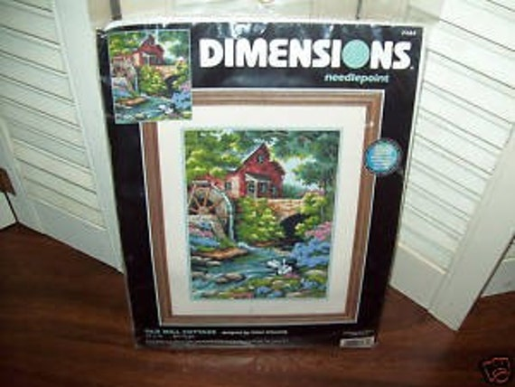 The Old Mill Cottage...New Dimensions Needlepoint Kit...FREE SHIPPING