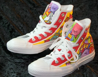 Cat Lovers Cartoon Converse Shoes