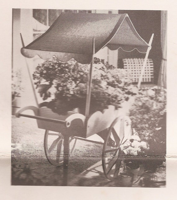 Vintage 1958 FLOWER CART Woodworking Full Size Plans and Pattern for ...