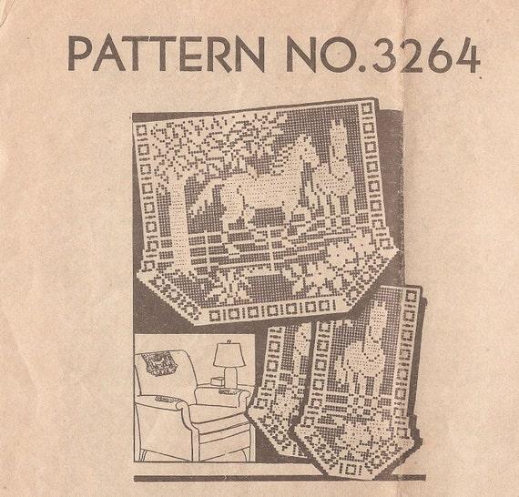 Vintage Filet Crochet Apron Mail Order Patterns Patterns Kid