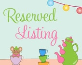 Reserved Listing for  mandyfay