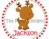 Santa's Little Helper...Personalized Christmas Rudolph Iron-on Shirt Transfer
