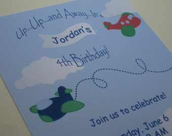 Flying Birthday Party Custom Invitations...My Little Co-Pilot Collection
