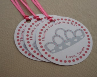 Princess Party Custom Favor Tags - My Little Princess Collection
