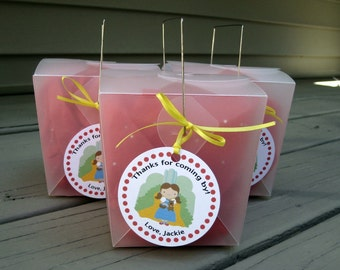 Wizard of Oz Party Custom Favor Tags - Follow the Yellow Brick Road Collection