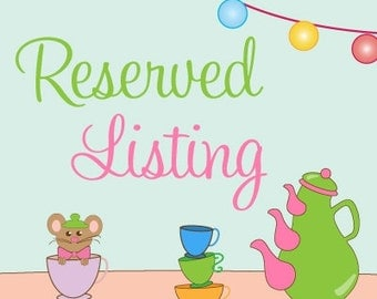 Reserved Listing for Maria Romas