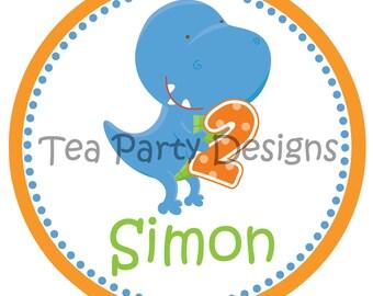 My Little Dinosaur...Personalized Dinosaur Party Iron-on Shirt Transfer