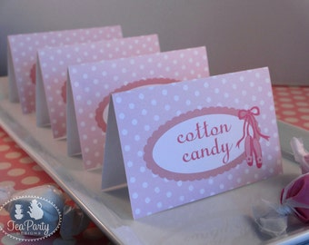 Ballet Party Custom Tent Place Cards - My Little Ballerina Collection