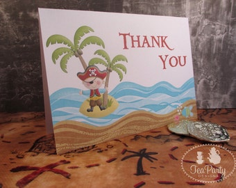 Pirate Boy Party Thank You Notes - Ahoy Matey Collection