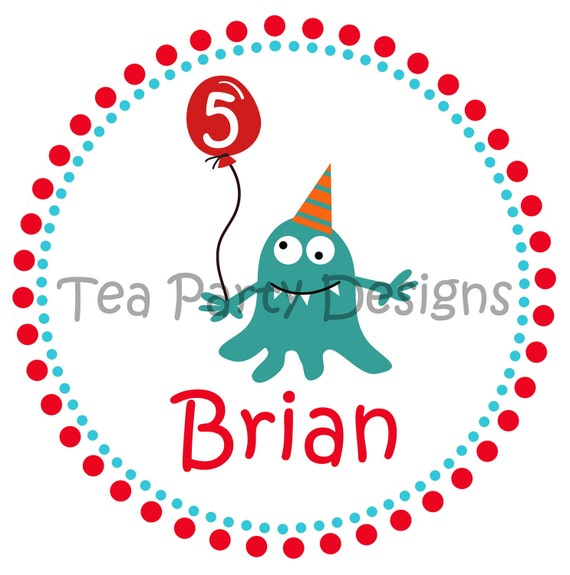 My Little Monster...Personalized Party Iron-on Shirt Transfer