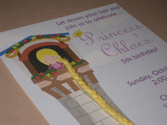 Reserved Listing for lisalaz00 - Let Down Your Hair...Customized Rapunzel Party