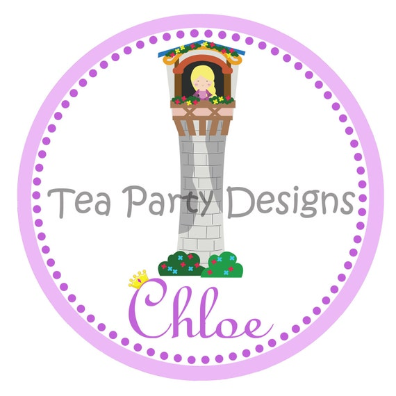 Rapunzel Princess Custom Iron-on Shirt Transfer DIGITAL FILE - Let Down Your Hair Collection from Tea Party Designs