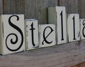 PERSONALIZED WOODEN BLOCKS - Farmhouse - Barnwood - Custom - Letter - Sign - Last name - Initial - Home Decor - Shabby Chic