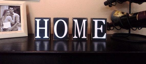 CUSTOM BLOCK LETTERS Home Decor Sign Shelf Gift