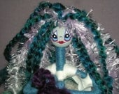 Trisha Goth Ooak Yarn Doll by Mama JC (Price includes Shipping)