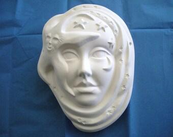 Paint it Yourself Star Shine Mask Ceramics Poured by CrazyOldLadyJC