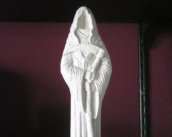 You Paint it Large Grim Reaper Holding His Sickle Ceramics Poured by CrazyOldLadyJC