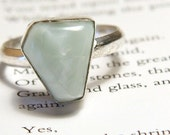 Chic Natural Agate Sterling Ring