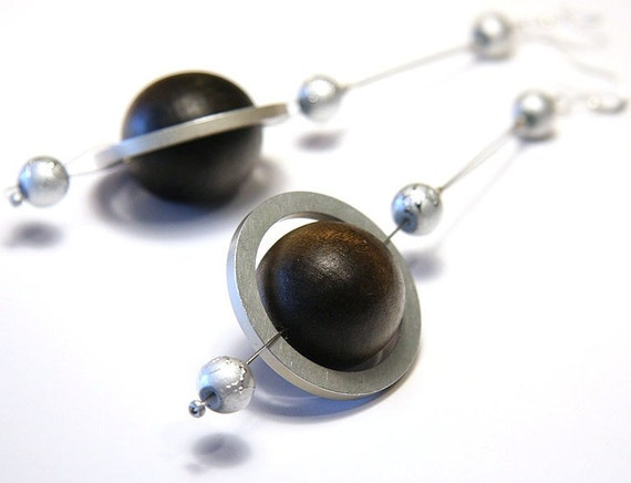planet saturn earring - photo #3