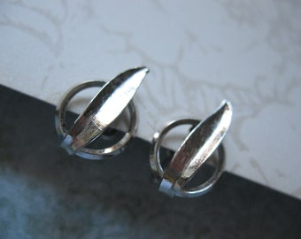 Van Dell Sterling Silver Earrings Screw Back