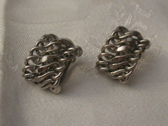 Unchain My Heart Silver Clip On Earrings