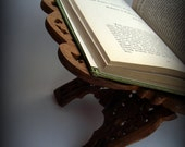 Grimoire - VINTAGE - Teak - Solid Wood Book Holder - perfect addition to your altar or parlor table.