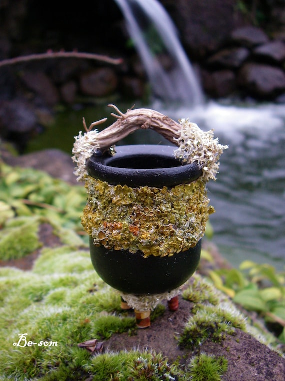 Woodland Faery Cauldron - Fae Kitchenware - Handmade - Just the right size for the little folks.