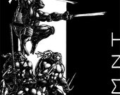 Teenage Mutant Ninja Turtles pen & ink comic art 11x17 print