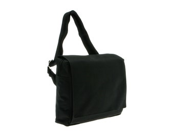 Black, iPad ,Padded ,Messenger Bag,Laptop bag, Adjustable Strap-Mini Mula in Black