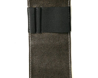 A4 Hardcover Notebook Strap,Organizer,  iPhone Carrier, Notebook Buckle - Orion Brown