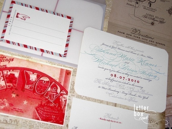 Vintage Travel - Wedding Invitation